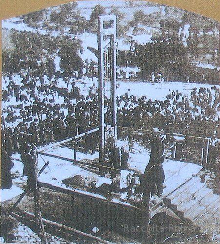 Via dei Cerchi. Esecuzione capitale Anno: 1867