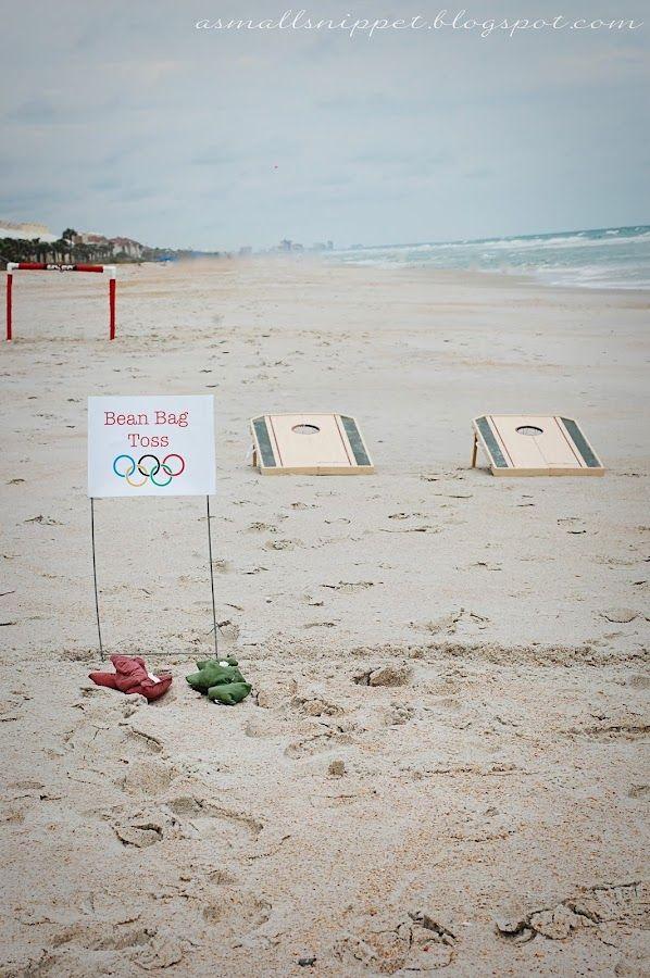 Bean Bag Toss:  the kids didn't seem to mind that bean bag toss isn't an official Olympic Event