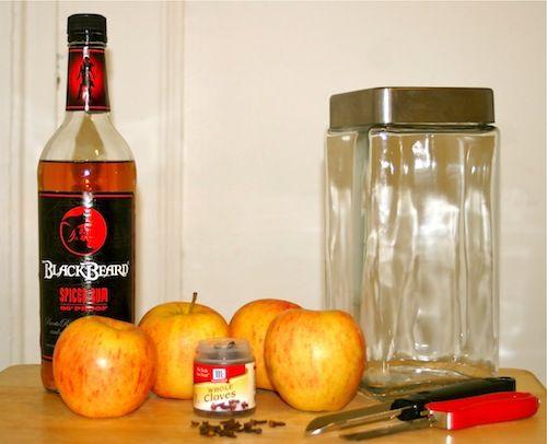 DIY Apple Infused Spiced Rum | cocktails!!! | Pinterest