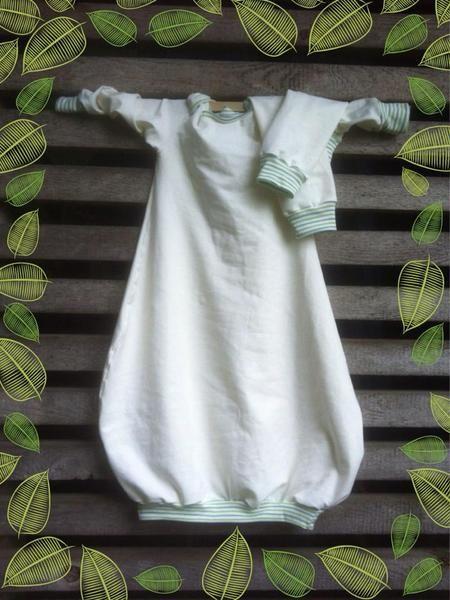 Windelfrei Nachthemd & passende Babylegs Gr.62-80  von Carry-a-Rose auf DaWanda.com