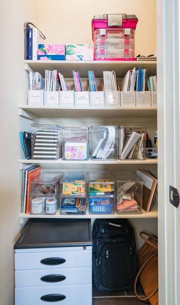 How To Organize A Home Office This Organized Closet Holds Office