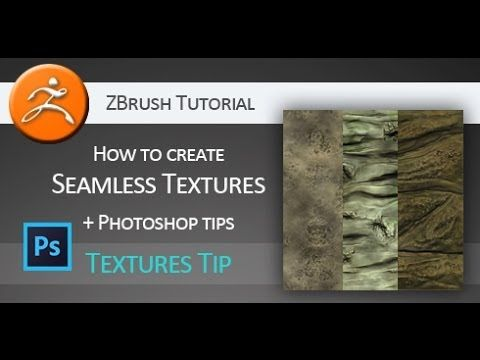 Tutorial: How to create seamless textures in Pixologic ZBrush + Adobe Ph...