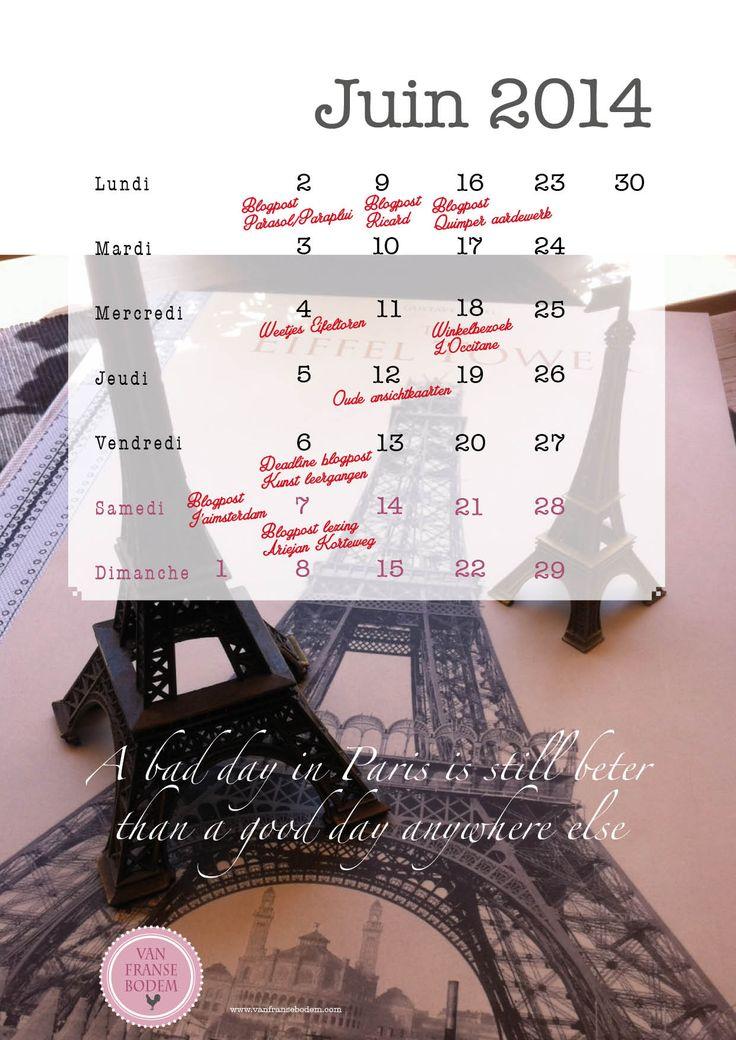kalender Eiffeltoren van Franse bodem