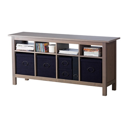Hemnes sofa table gray brown ikea home inspiration for Cama hemnes