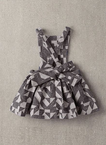 Nellystella Ella Dress in Grey Woven Geo