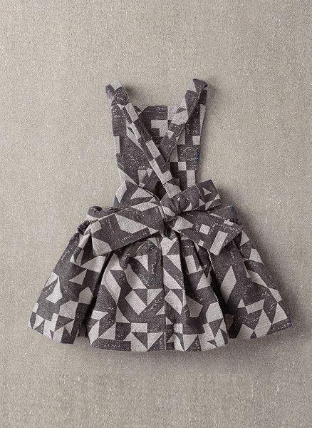Nellystella Ella Dress in Grey Woven Geo