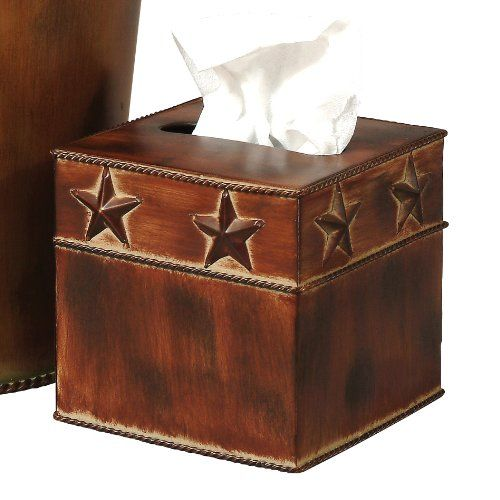 Rustic Star Tissue Box  Southwestern Bathroom Accessories ** Click on the image for additional details.