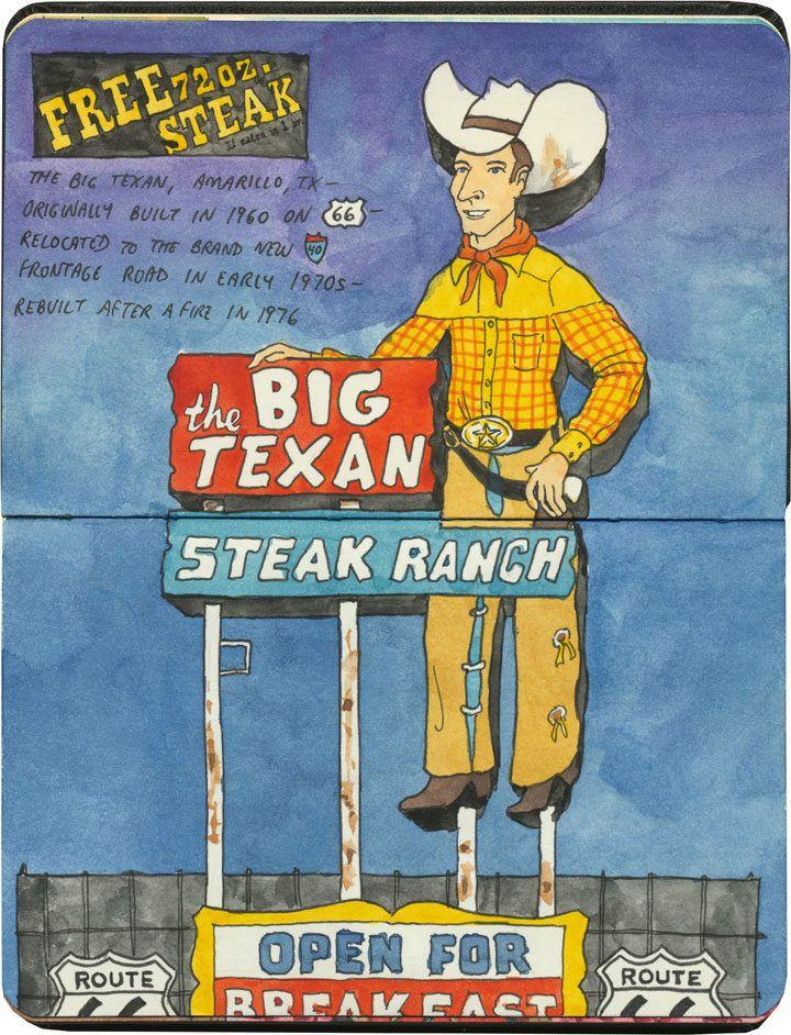 The Big Texan, a big part of Route 66.