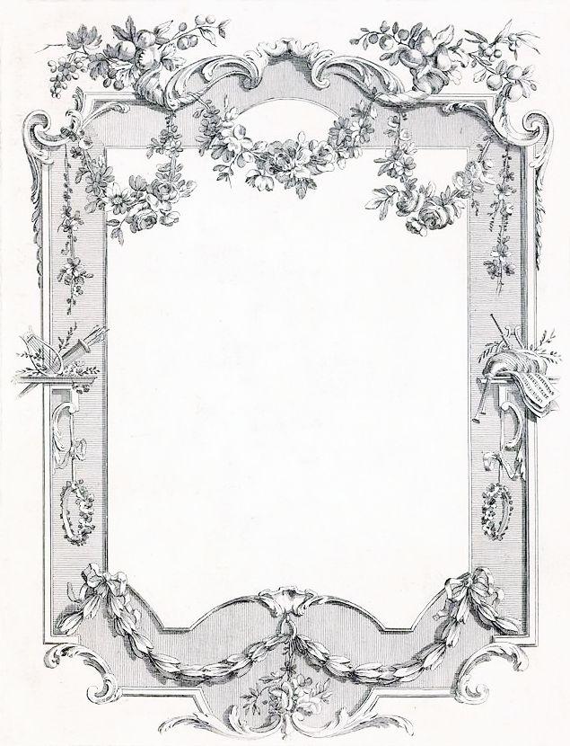 Vintage Vine Frame ~ LÁMINAS ANTIGUAS 3-Ideas y Trabajos terminados (pág. 802)