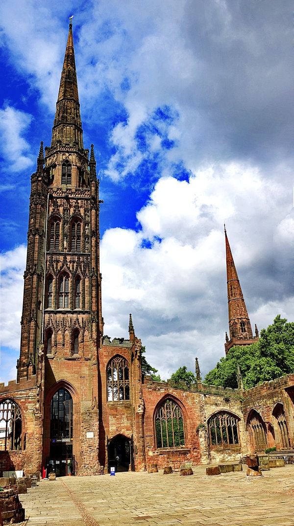 Coventry Cathedral: love this view of where my parents were married at the beginning of WW2
