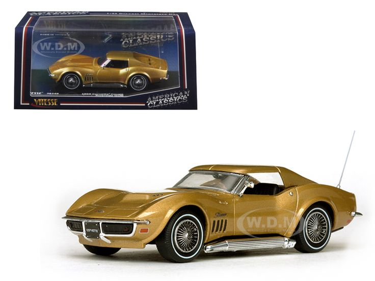 diecastmodelswholesale -  1969 Chevrolet Corvette Coupe Riverside Gold 1/43 Diecast Model Car by Vitesse, $24.99 (http://www.diecastmodelswholesale.com/1969-chevrolet-corvette-coupe-riverside-gold-1-43-diecast-model-car-by-vitesse/)
