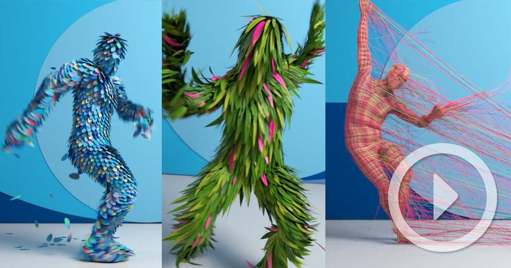 This three minute dance performance was created by Method Studios for this year's AICP Awards as a way to promote different sponsors. Each sponsor is imagined briefly as a dancing avatar rendered with the help of motion capture, procedural animation and dynamic simulations. The wild costume