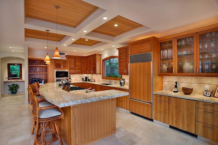 Another beautiful use of wood in the kitchen