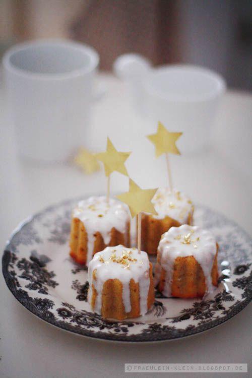 Fräulein Klein : erster Advent, Spekulatius-Orangen-Küchlein und mehr