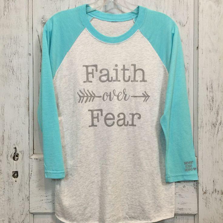 Faith over Fear Raglan Shirt (Baseball T)
