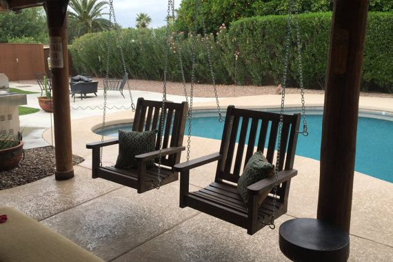 English Style Oversized Single Person Porch Swing / Single