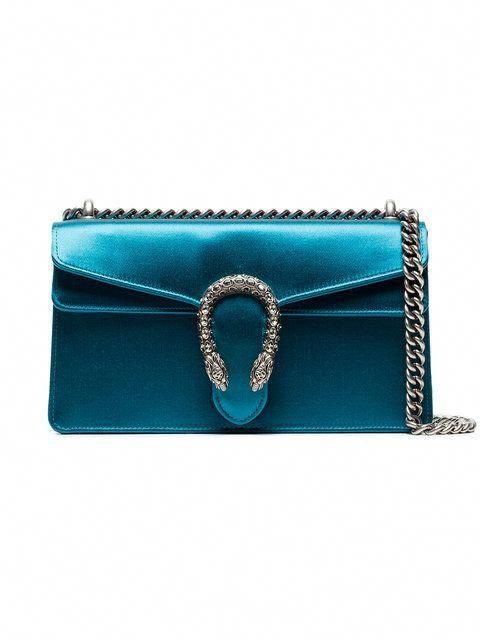 334e339c6736 Gucci Blue Dionysus Small Satin Shoulder Bag ~ farfetch.com #Pradahandbags