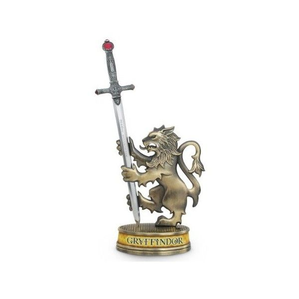 GRYFFINDOR Sword Letter Opener. Harry Potter Noble Collection ($42) ❤ liked on Polyvore featuring home, home decor and office accessories