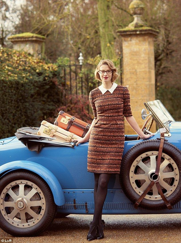 Forties flair: Fashion is going vintage.    Tweed dress, mulberry.com   Blouse, hm.com T-bar Shoes, dune.co.uk  #vintagedress #peterpancollar