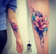 Flower tattoo / tattoo ideas / watercolor tattoo designs /Forearm tattoo