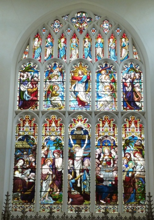 Stained Glass, St Mary's Church, Saffron Walden, Essex, UK