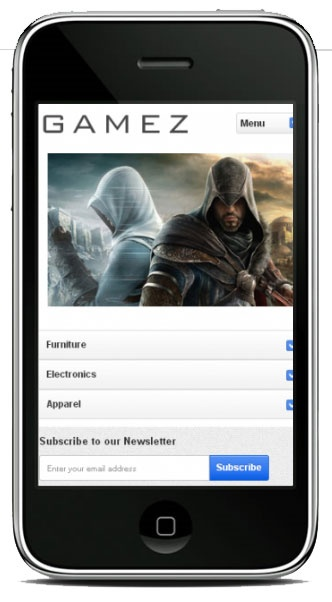 Hello Gamez Magento iPhone Theme