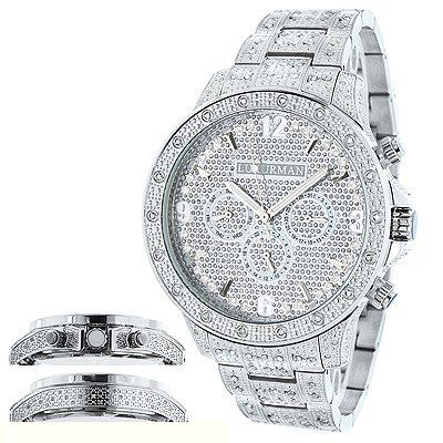 Mens Diamond Watches: Fully Iced Out Watch 1.25ct Luxurman