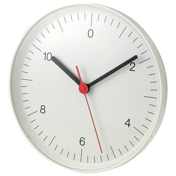 MUJI wall clock with smooth second hand movement.