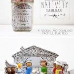 Christmas Nativity Peg Dolls and Download