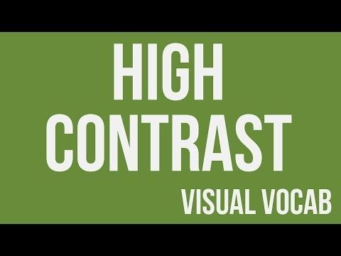 High Contrast defined - From Goodbye-Art Academy - YouTube