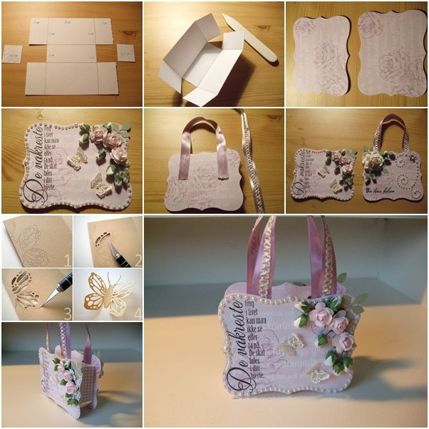 How To Make Beautiful Paper Gift Handbag Fab Art Diy Your Favorite Tutorials Pinterest Sobres De Papel Cartón And Manualidades