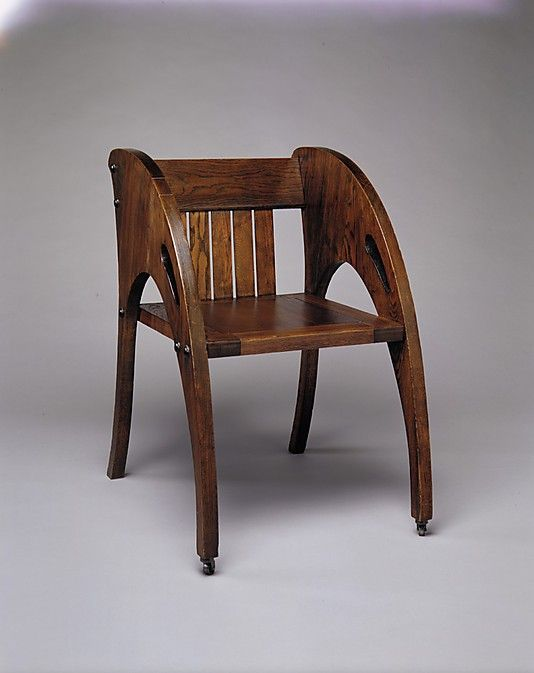 Armchair  J. S. Ford, Johnson and Company (American, 1867–1902)  Date: ca. 1904 Geography: Midwest, Chicago, Illinois, United States Culture: American Medium: Oak, poplar