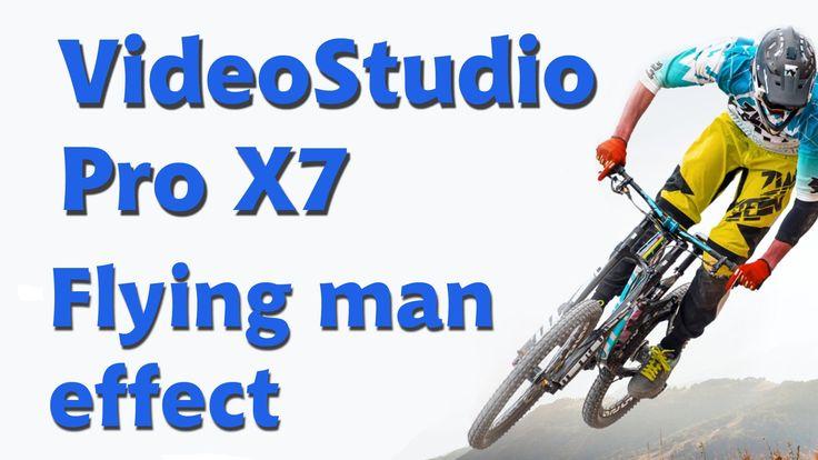 Corel VideoStudio Pro X7, flying man landing effect - YouTube