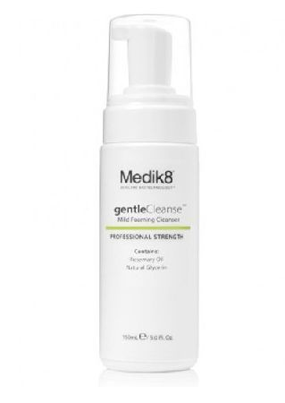 Medik8 Gentle Cleanse 150ml Medik8 gentle cleanse is a delicate yet deeply purifying foam wash suitable for all skin types and ages. Presented in a handy foaming pump bottle for one handed operation. Infused with Rosemary Oil, a http://www.MightGet.com/january-2017-11/medik8-gentle-cleanse-150ml.asp