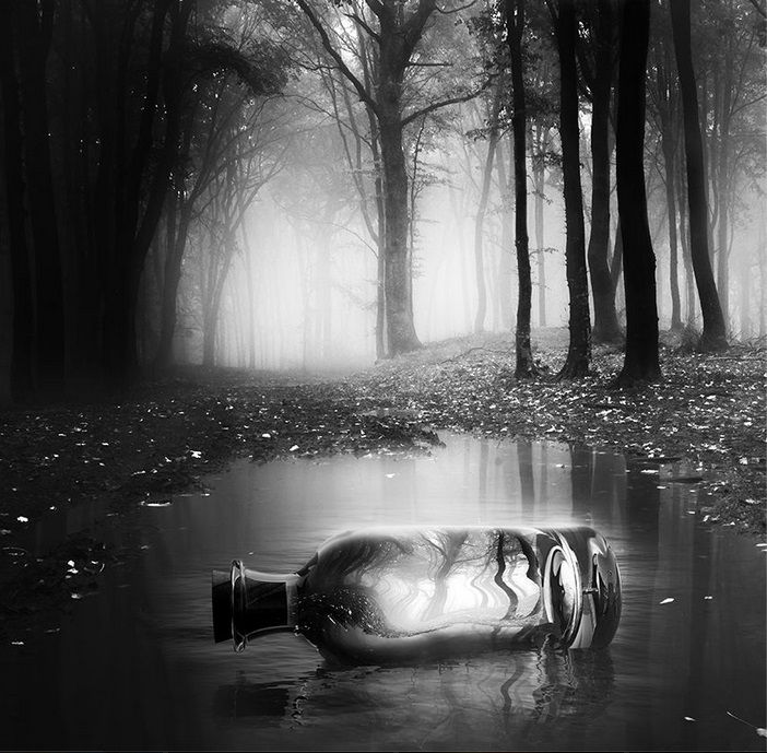 """He gave caption for this works """"Between Two Worlds"""" as he discovered the power of black and white #photography #art"""