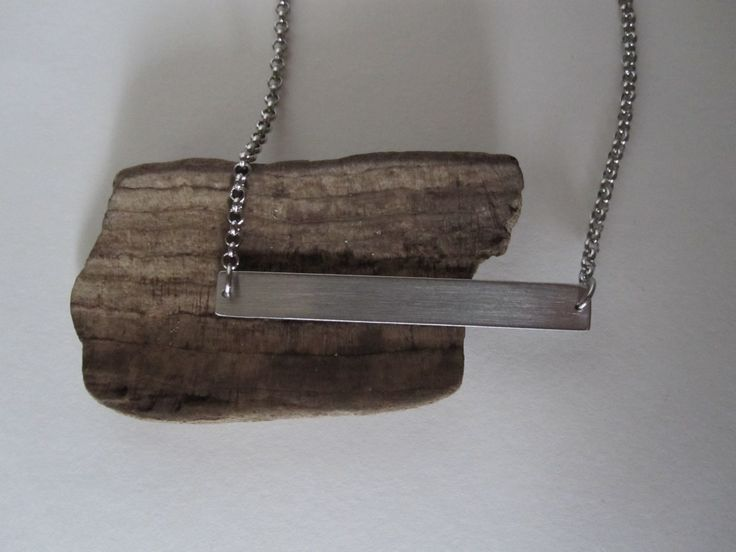 Bar Necklace - Stainless Steel by Eighty8Eighty9 on Etsy