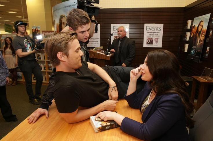 Max Irons, Jake Abel and Stephenie Meyer