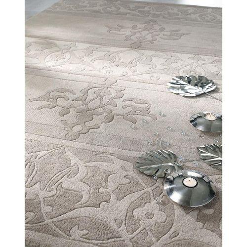 Tappeto grigio in lana a pelo corto 160 x 230 cm CLASSICA - maisons du monde 299