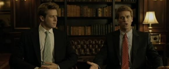 """The real-life Winklevii, twins Cameron Winklevoss and Tyler Winklevoss, are pretty easy on the eyes. But nothing compares to Armie Hammer, who portrayed the Olympic rowers (and Mark Zuckerberg rivals) in """"The Social Network"""" in 2010."""