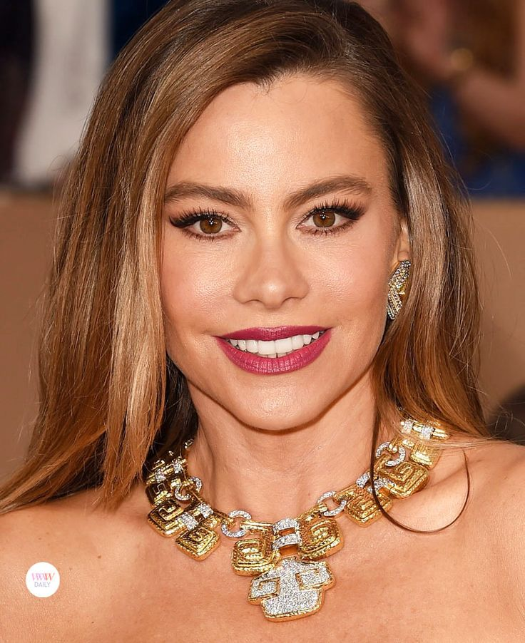 Sofia Vergara at the 2016 SAG Awards wearing David Webb jewels