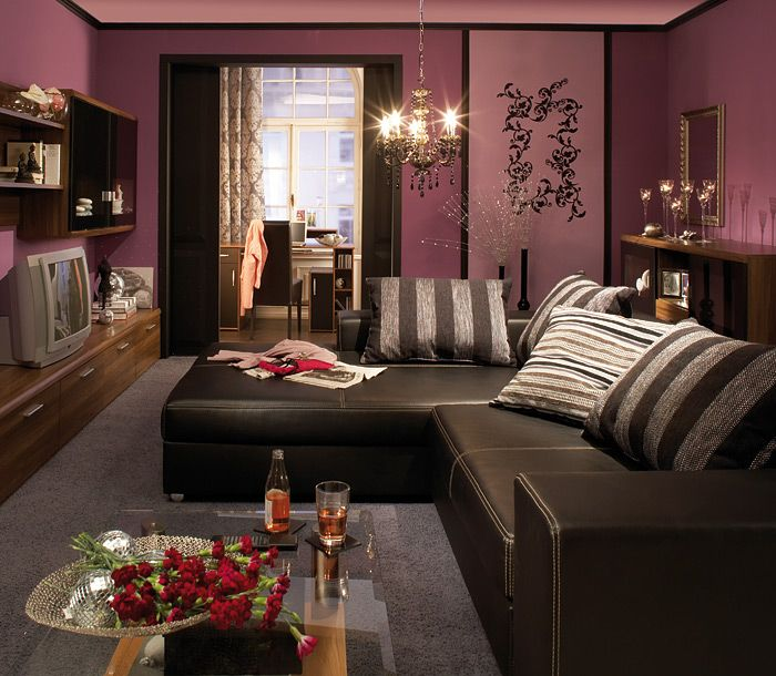 De 25+ bedste idéer inden for Wandfarben muster på Pinterest - wohnideen wohnzimmer lila