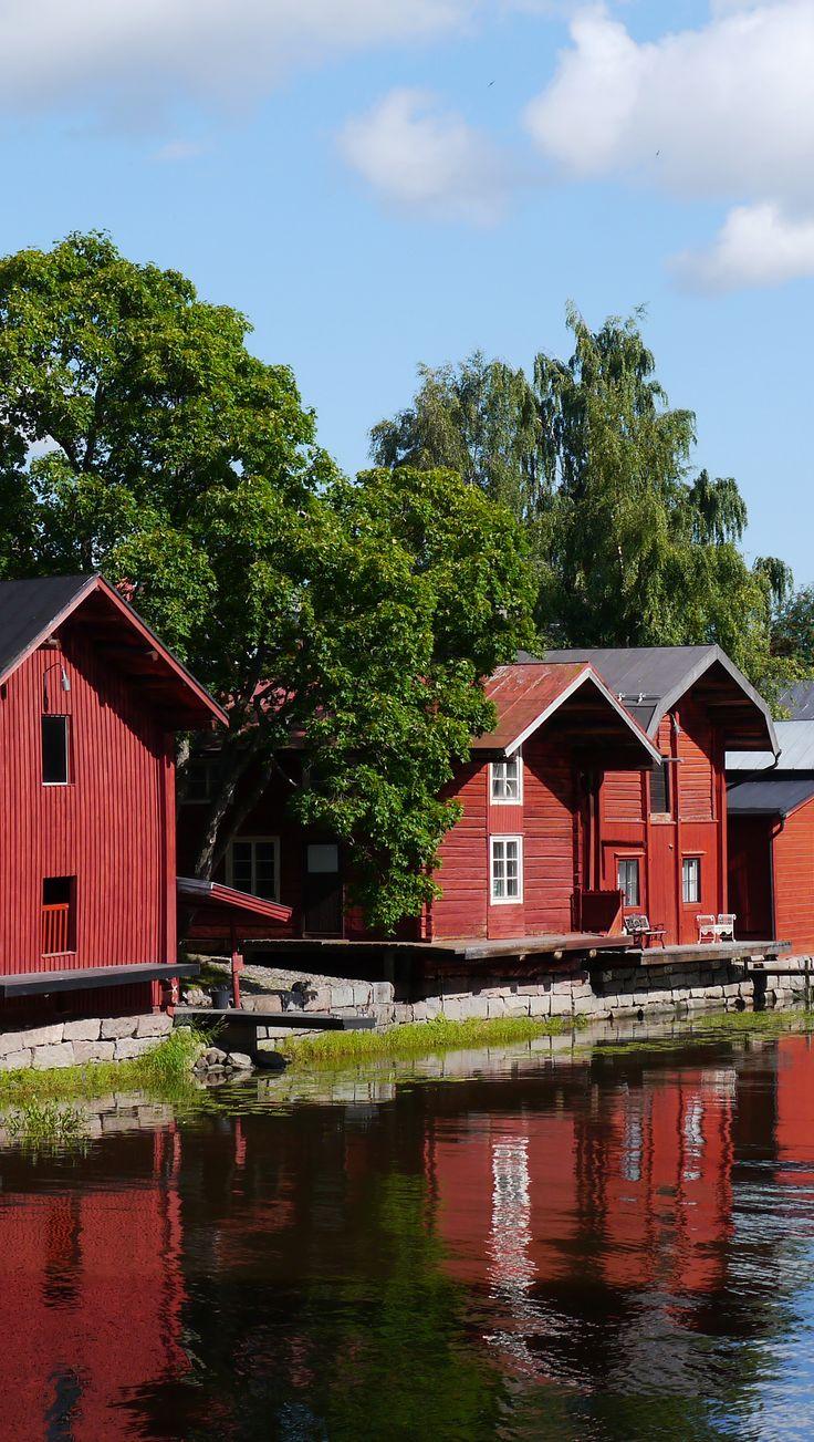 Porvoo, my hometown in Finland. Ranta-aitat in old town.