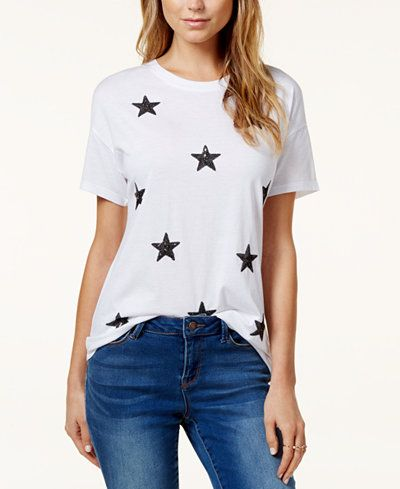 Carbon Copy Sequined Star T-Shirt