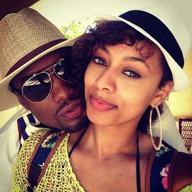Keri Hilson and her man Serge Ibaka of the OKC Thunder