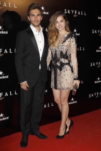 Marc Clotet y Ana de Armas en el estreno de 'Skyfall' en Madrid #famosos #actores #actrices
