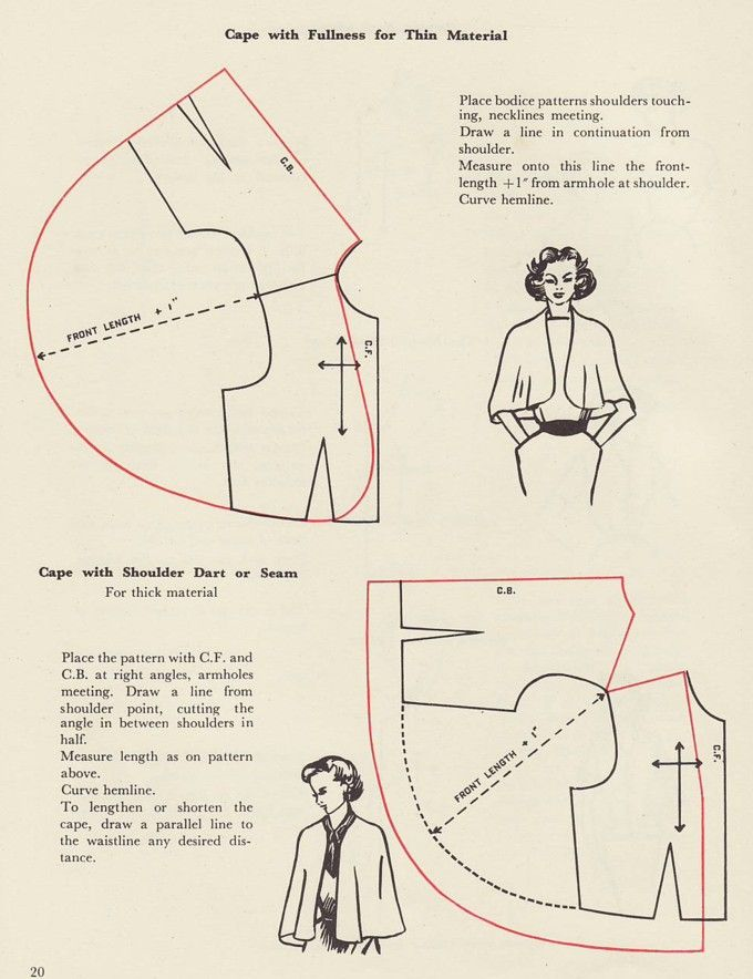 Capa con/sin costura hombro