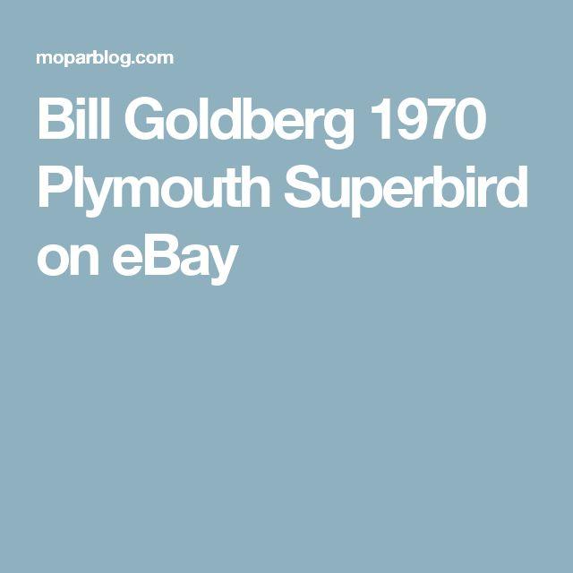 Bill Goldberg 1970 Plymouth Superbird on eBay