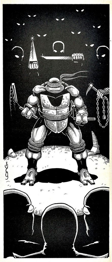 "https://flic.kr/p/4JAZDx | Palladium Books presents ""Turtles go Hollywood"" by Daniel Greenberg :: Looking for the Drug Factory [ FOOT ] ..art by Kevin Long (( 1990 )) 