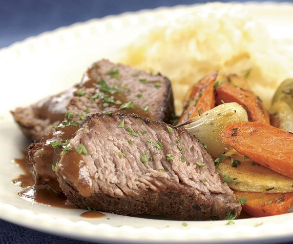 Slow-Cooked Pot Roast with Mustard & Horseradish Gravy Recipe