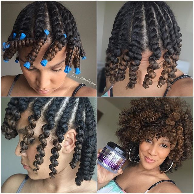 #Repost @_hernameisme ・・・ Flat twist n curl!  How I achieved this look on dry hair.  1️⃣ Separate front of hair from back  2️⃣ Part Medium section of hair 3️⃣ Apply @themanechoice Crystal Orchid Biotin Infused Styling Gel  4️⃣ Flattwist the roots going into a two strand twist to the ends then coil hair around blue perm rods 5️⃣ Dry Overnight 6️⃣ Uncoil, Separate, & fluff to perfection  #TeamPurpleBottle #TheManeChoiceTeam #TheManeChoice